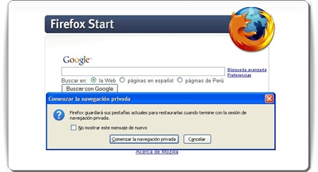 Navegación Privada, estará disponible en Firefox 3.1