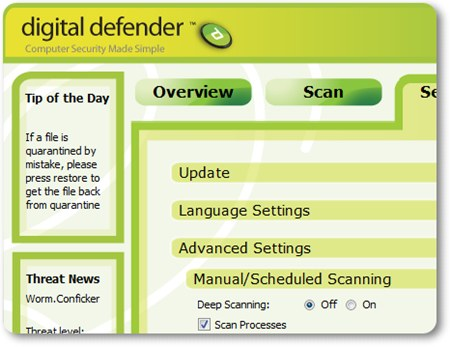 Digital Defender - view