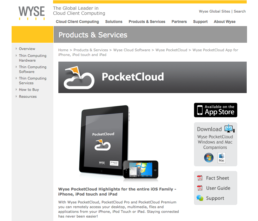 pocketcloud windows