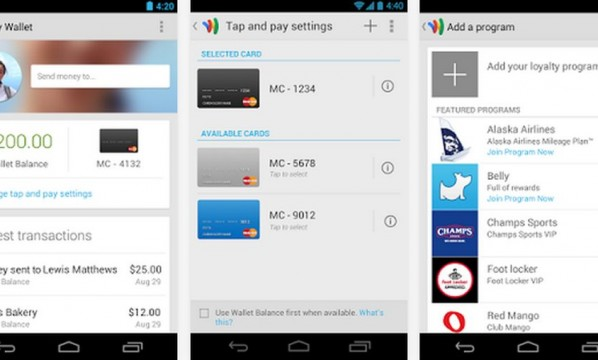 Android KitKat y Google Wallet