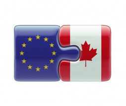 European Union Canada High Resolution Puzzle Concept