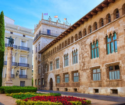 Valencia Palau Generalitat in Manises square at Spain