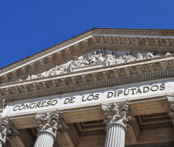 facade of the Congress of deputies of Spain