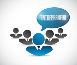 entrepreneur team illustration design over a white background